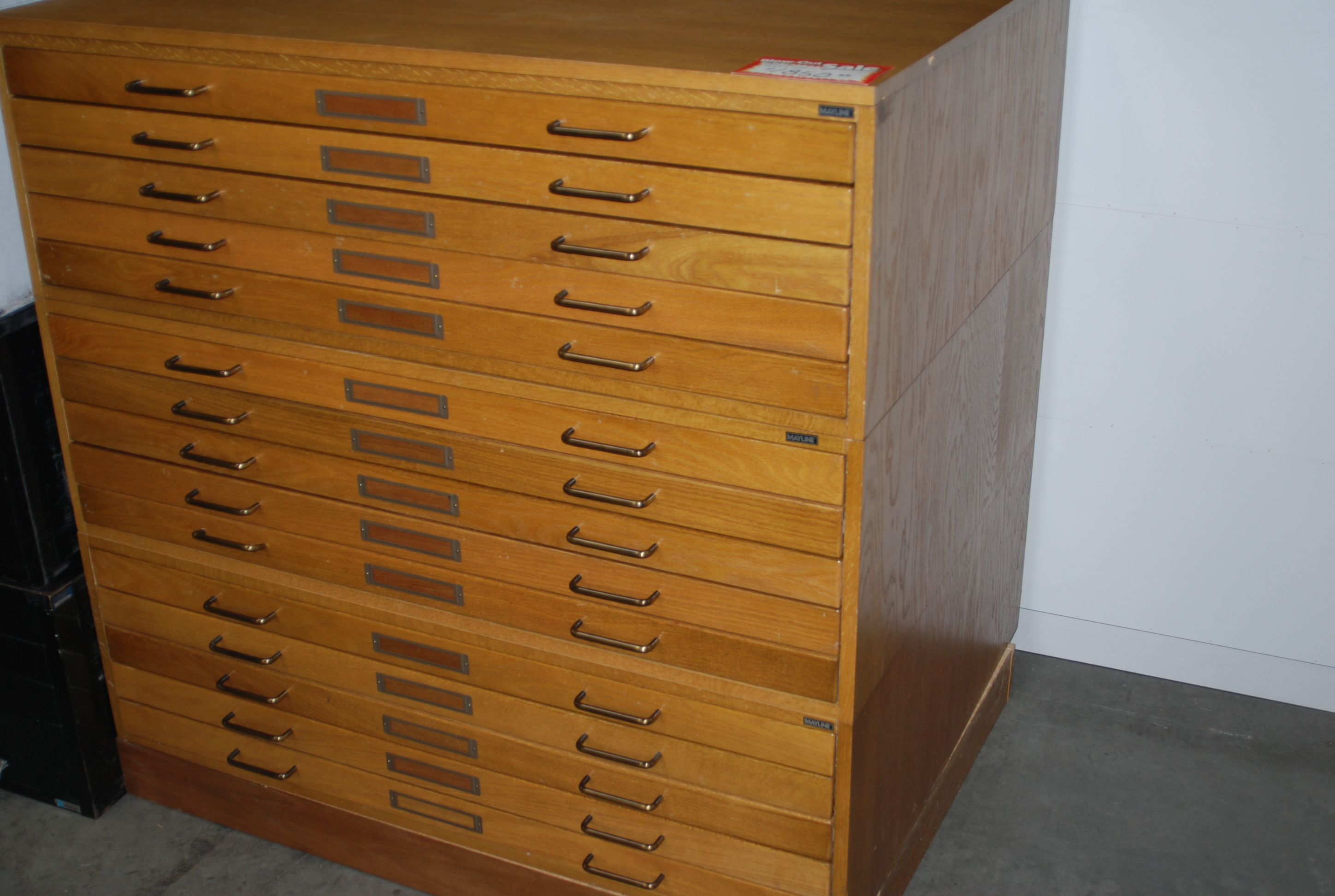 Used Wood Flat Files Mayline 5 Drawer Sold Includes 3 1 Cap And Base Holds Up To 30 X 42 Drawings