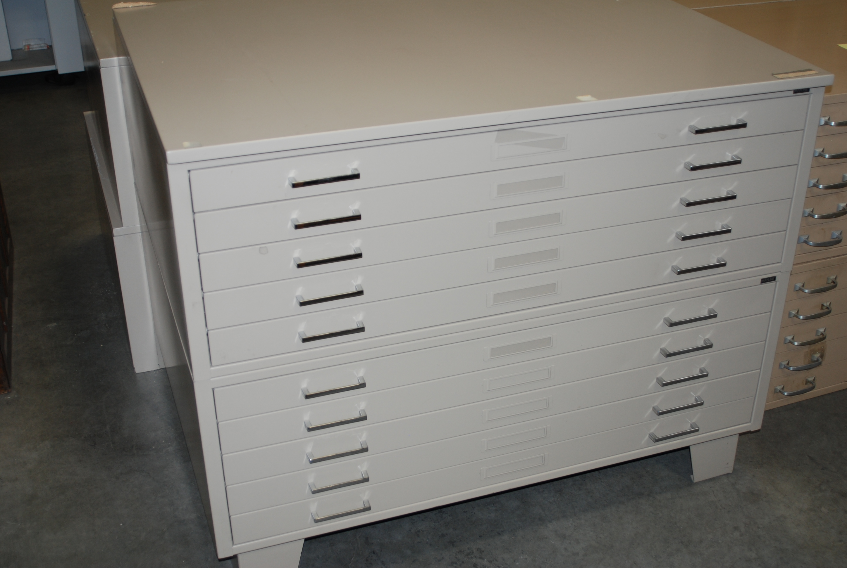 Used flat files roll files plan racks hoppers drafting furniture set of 2 used mayline flat files with base must be sold as a pair drawers hold up to 30 x 42 drawings files are in excellent condition malvernweather Choice Image