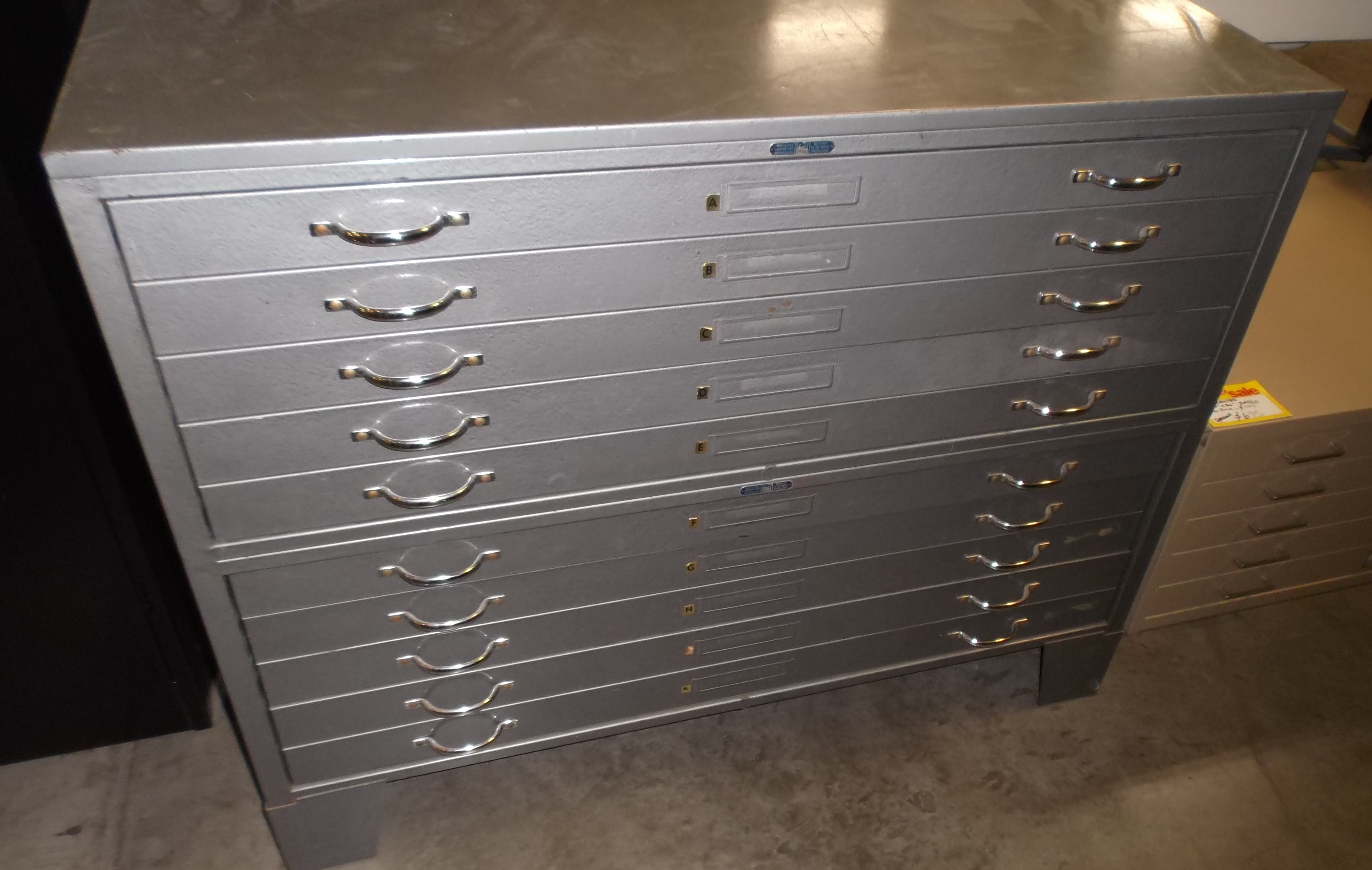 Picture of: Used Flat Files Roll Files Plan Racks Hopper S Drafting Furniture